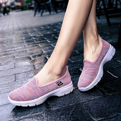 Women Breathable Sport Shoes High Quality Casual Sandals Leisure Soft Sneakers pink 35