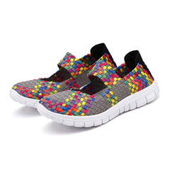 Women Handmade Comfortable Sandals Fashion High Quality Casual Sport Shoes Plus Size Leisure Shoes grey 35