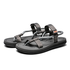 Women and Men Breathable Leisure Sandals Plus Size Fashion Casual Beach Sandals Soft Slippers grey 36