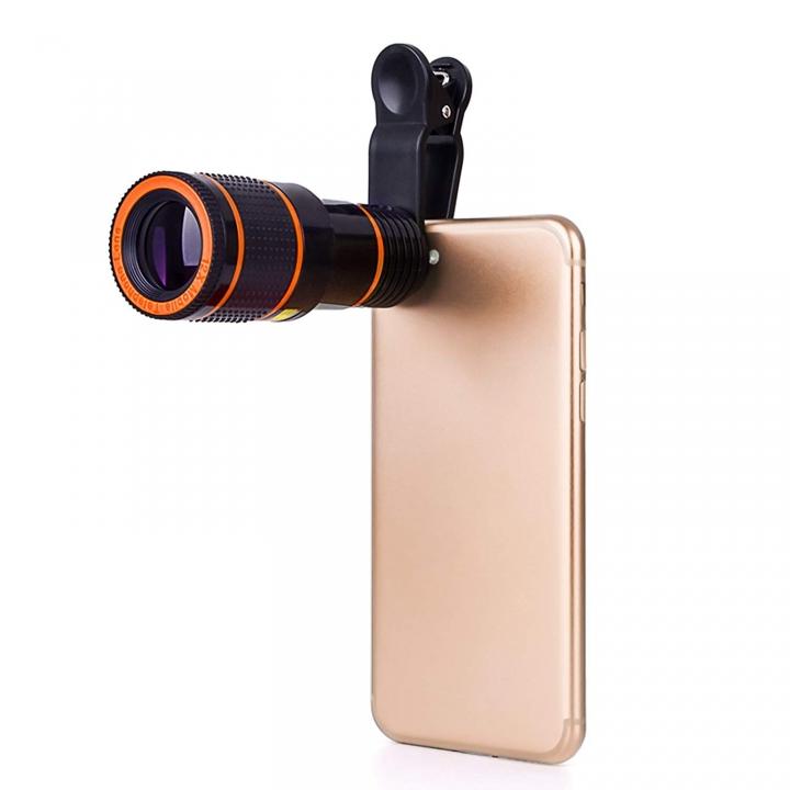 Ryan World 8X Zoom Mobile Telescope Lens Telephoto External Smartphone Camera Lens for phone Black One-size