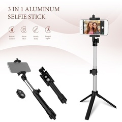 Ryan World Portable Bluetooth Shutter Selfie Stick Tripod Monopod Remote Control Stand Holder white one-size