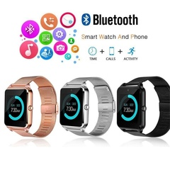 Ryan World Smart Bluetooth Watch LED Display Dial SMS Music Player Pedoeter Apple IOS Android black one-size
