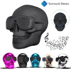 Ryan World Plastic Skull Metallic Wireless Shape Bluetooth Speaker Subwoofer Mobile Speaker pink one-size