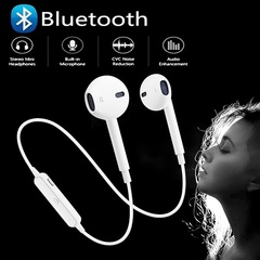 Ryan World High quality bluetooth headset Wireless sports bluetooth headset earphones white