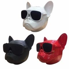Ryan World Portable Wireless Bluetooth Bulldog Speakers MP3 Player Dog Speaker Mini Boombox white one-size
