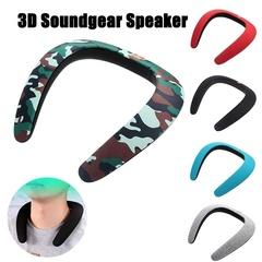Ryan World New Stereo Wireless Bluetooth Speaker Ring Neck Strap Headset 3D Bluetooth Speaker black
