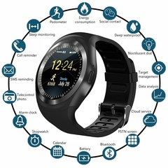 Ryan World Bluetooth Smart Watch Pedometer Fitness Tracker Waterproof All Phone Wristwatch black one-size