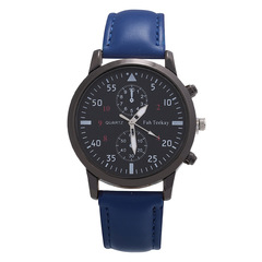 Ryan World Faux Leather Mens Blue Ray Glass Quartz Analog Watches Blue free size