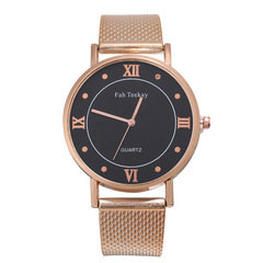 Ryan World Men's Fashion Watch  Casual Analog Quartz Date with Milanese Mesh Band  Wrist Watches Rose Gold free size
