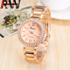Ryan World Fashion Women Quartz Watches Rhinestone Diamond Casual Silver Gold WatchesDiamond Watch Gold free size