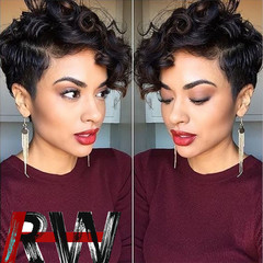 Ryan World New Style Synthetic Wigs for Women Short Black Wig Bang Wig Full Hair Natural Short Wigs Black one size
