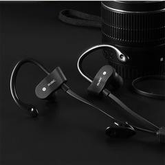 Ryan World Sports Running Bluetooth Earphone Stereo Earphones Sweatproof Headset Wireless black