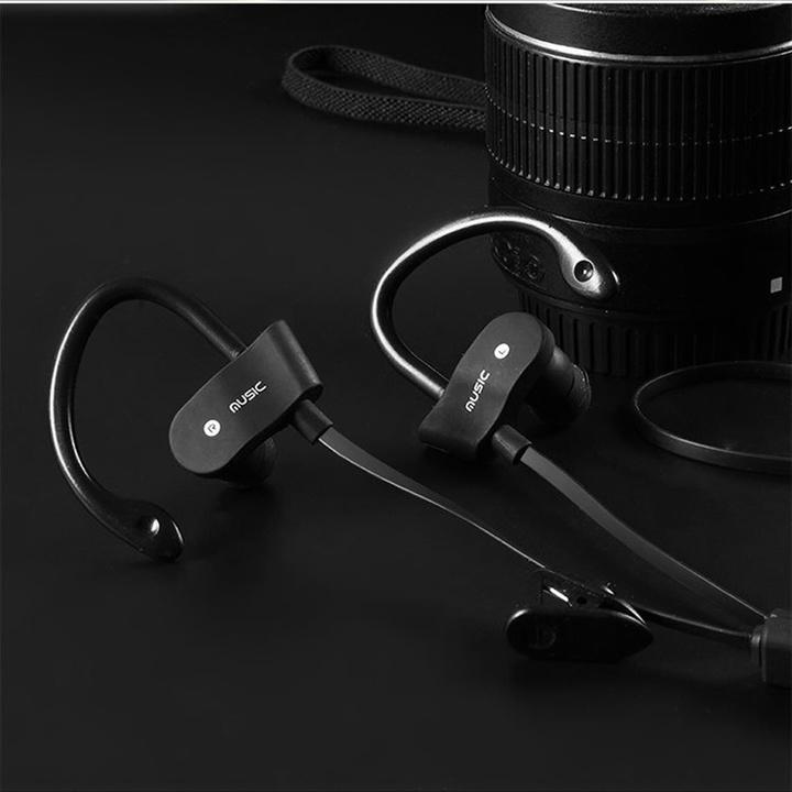 Ryan World Sports Running Bluetooth Earphone Stereo Earphones Sweatproof Headset Wireless black