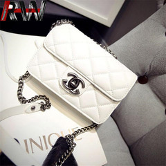 Ryan World Small Crossbody Purse Lingge Leboy Ladies Handbags Chain Flap Leather Shoulder Bag White one size