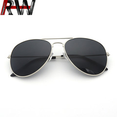Ryan World Classic Aviator Mirrored Flat Lens Sunglasses Metal Frame with Spring Hinges 1# one size