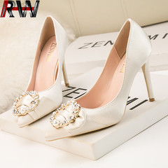 Ryan World Women Pumps Closed Toe Platform High Heel Buckle Satin Evening Party Wedding Shoes GOLD EUR 36