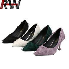 Ryan World Womens Pointy Toe Memory Foam Cushion High Heels Stiletto Dress Pumps Wedding Shoes black eur 36