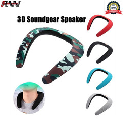 Ryan World New Stereo Wireless Bluetooth Speakers Ring Neck Strap Headset 3D Bluetooth Music Player black