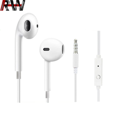 Ryan World Wired Headphones Noise Isolating Earphones with Built-in Microphone & Volume Control white