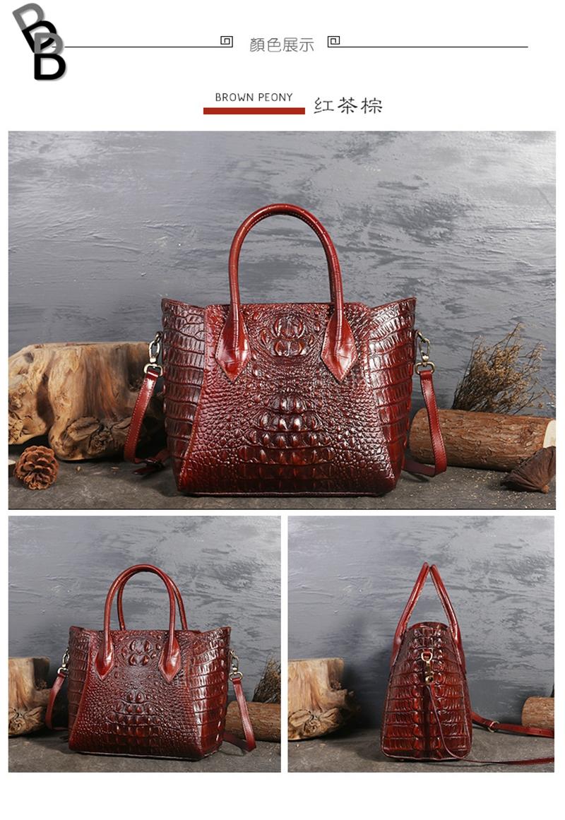 9f246422cc70 Original design brand lady s bag full-grain leather crocodile veins ...