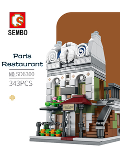 SEMBO Lego Paris Restaurant/Pet Store/Fire Department/Theater Building Blocks Paris restaurant One size