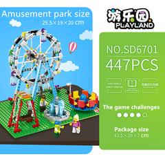 SEMBO Lego Theme Amusement Park 5in1 477 Pieces Building Blocks (Ferris Wheel) as picture one size