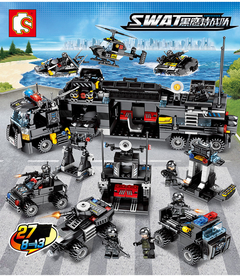 SEMBO Lego SWAT Armored Military Force 695+ Pieces Building Blocks with 24 Style as picture one size