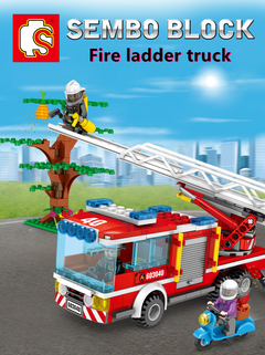 SEMBO Lego Fire Frontline Series Fire Truck Model 330 pcs Building Blocks as picture one size