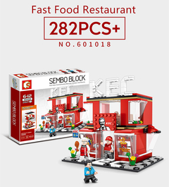 SEMBO Lego Convenience Store 320 Pieces Building Blocks within 3 Characters fire department one size
