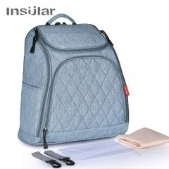 INSULAR one Multi function shoulder bag Outgoing bag cowboy blue l