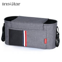 INSULAR Waterproof cotton and hemp baby cart bag multifunctional shoulder Bags for mother and infant marca red l