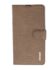 X510 Original Dotted Leather Flip Cover - Brown