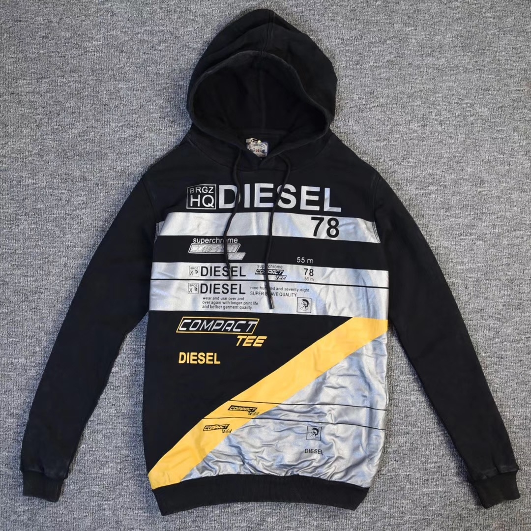 uk availability 045c3 7453c Diesel S.p.A. -Men's Jacket/ Outdoor Wear/Sweater/Hoodie/Fleeces/Hoody  Black XL