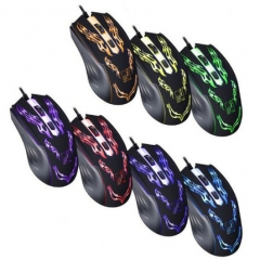 1500 DPI  LED Optical USB Wired Gaming Mouse for Computer Game Colourful normal