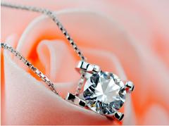 Fashionable square Necklace & Pendant with zirconium diamonds Purple Square style