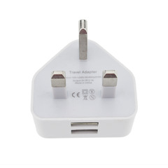 1A USB British  Chargers  Large Current Direct Charge  Quick Chargers White Normal