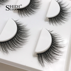New3 pairs natural false eyelashes fake lashes long makeup 3d mink lashes extension eyelash mink 11mm