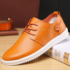 2019 new bean shoes fashion casual shoes leather shoes, dating gift necessities. black 39