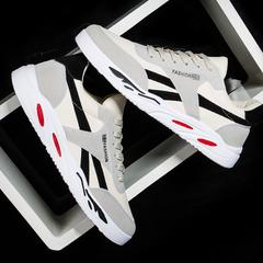2019 New Men's Shoes Trend Sports Shoes Leisure Canvas Shoes Student Board Shoes black 40