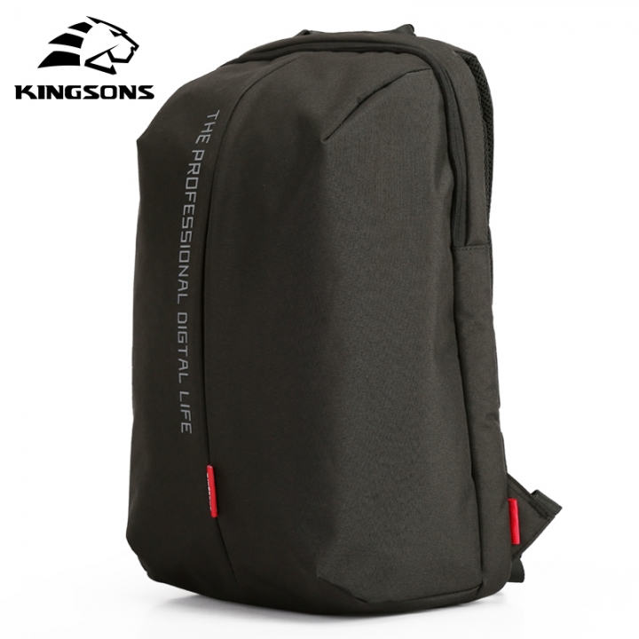 78bccffb39d1 Kingsons High Quality Waterproof Nylon Laptop Backpack Business Daypack Men  and Women s Knapsack Black 15 inches