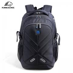 Kingsons Shockproof Laptop Backpacks Male Bag Waterproof Large Capacity Notebook Bagpack School Bag Black 15 inches