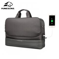 Kingsons Men 15.6 Inch Laptop Briefcase Bag Handbag Mens Nylon Briefcase Men's Office Business Bags black 15 inches