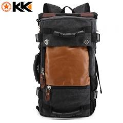 KAKA Stylish Travel Large Capacity Backpack Male Luggage Shoulder Bag Men Functional Versatile Bags Black 16 inches