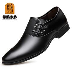 Men's Formal Shoes Split Leather Genuine Leather Shoe Party Dress Office Footwear Plus Size 38-47 black 6 Split Leather