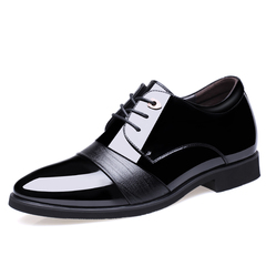 Men's Formal Shoes PU Patent Leather Shoe Party Dress Office Footwear Stylish Walk Classic Shoes black 5.5 pu