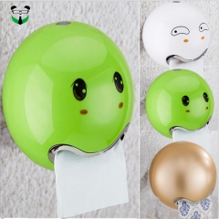 Toilet tissue box, washroom tissue box.  no hole, suction cup Red 18.5*18.5*16.5cm