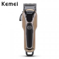 Kemei KM - 1990 Rechargeable Electric Adjustable H BLACK AND GOLDEN EU PLUG