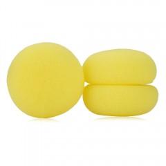 6pcs Beauty Mushroom Ball Healthy Soft Foam Hair C YELLOW
