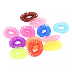 Beauty Scrunchie 12pcs Girl Elastic Rubber Hair Ti COLORMIX