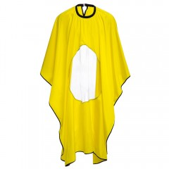 Hairstylist Polyamide Gown Cape Round High Transpa YELLOW